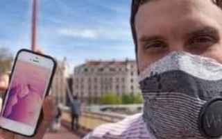 Gadget: wair  sciarpa  anti  smog  app
