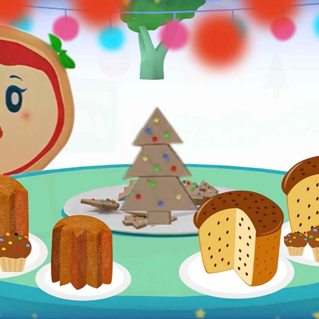 Cartoni animati per bambini la canzone di natale