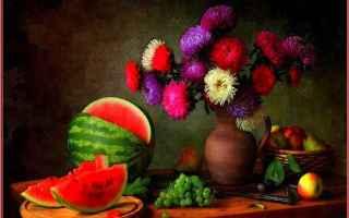 Arte: elaborazioni grafiche  fiori  frutta