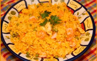 Ricette: paella  microonde  carne  pesce