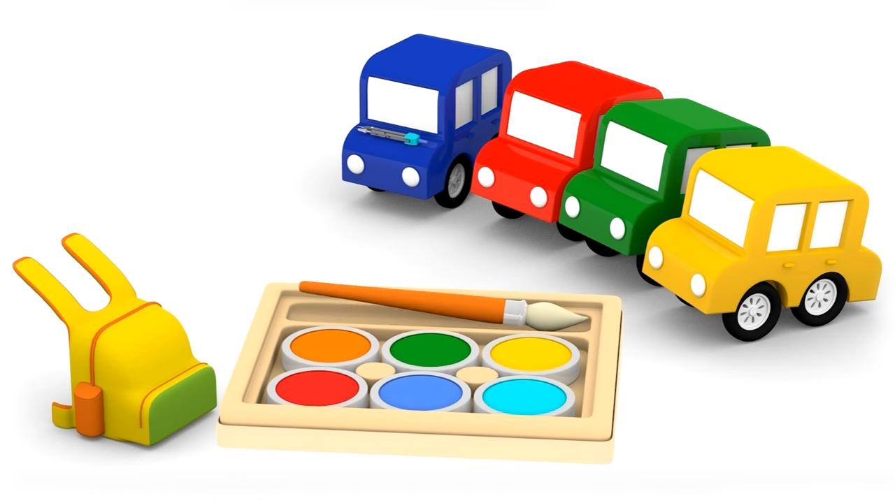 Cartoni animati per bambini le macchinina colorate