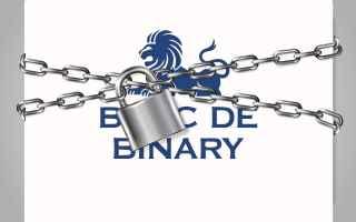 Borsa e Finanza: Banc de binary chiude quanto ha influito giambrone e il processo in UK