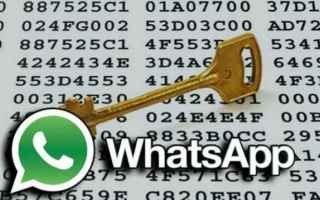 App: whatsapp  crittografia  backdoor
