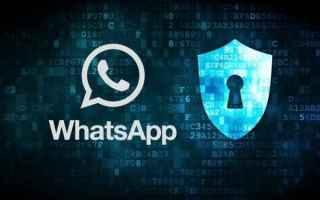 Sicurezza: privacy  whatsapp
