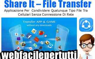 File Sharing: shareit  app  transfert  connesione