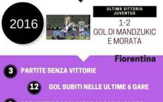 Serie A: fiorentina  juve  infografica  storia