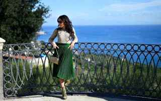 Moda: gonne plissettata  greenery  stivaletti