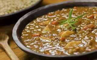 Ricette: zuppa proteica  zuppa farro e lenticchie