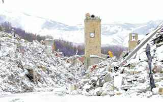 amatrice terremoto burocrazia  gelo neve