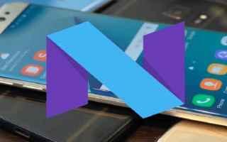 Android: aggiornamento  nougat  samsung