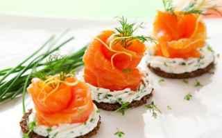 Ricette: pane di segale  salmone  canapé