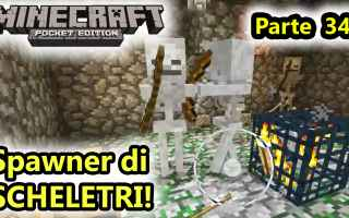 Mobile games: minecraft  minecraftpe  spawn scheletri