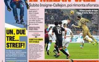 Calcio: calcio  serie a  prime pagine  rassegna