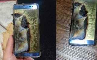 Cellulari: incendio samsung galaxy note 7