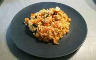 cena  ricette light  pesce  risotto