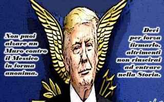 Satira: donald trump  muro del messico