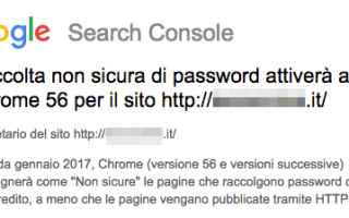 Sicurezza: Anche la Search Console notifica i siti senza HTTPS