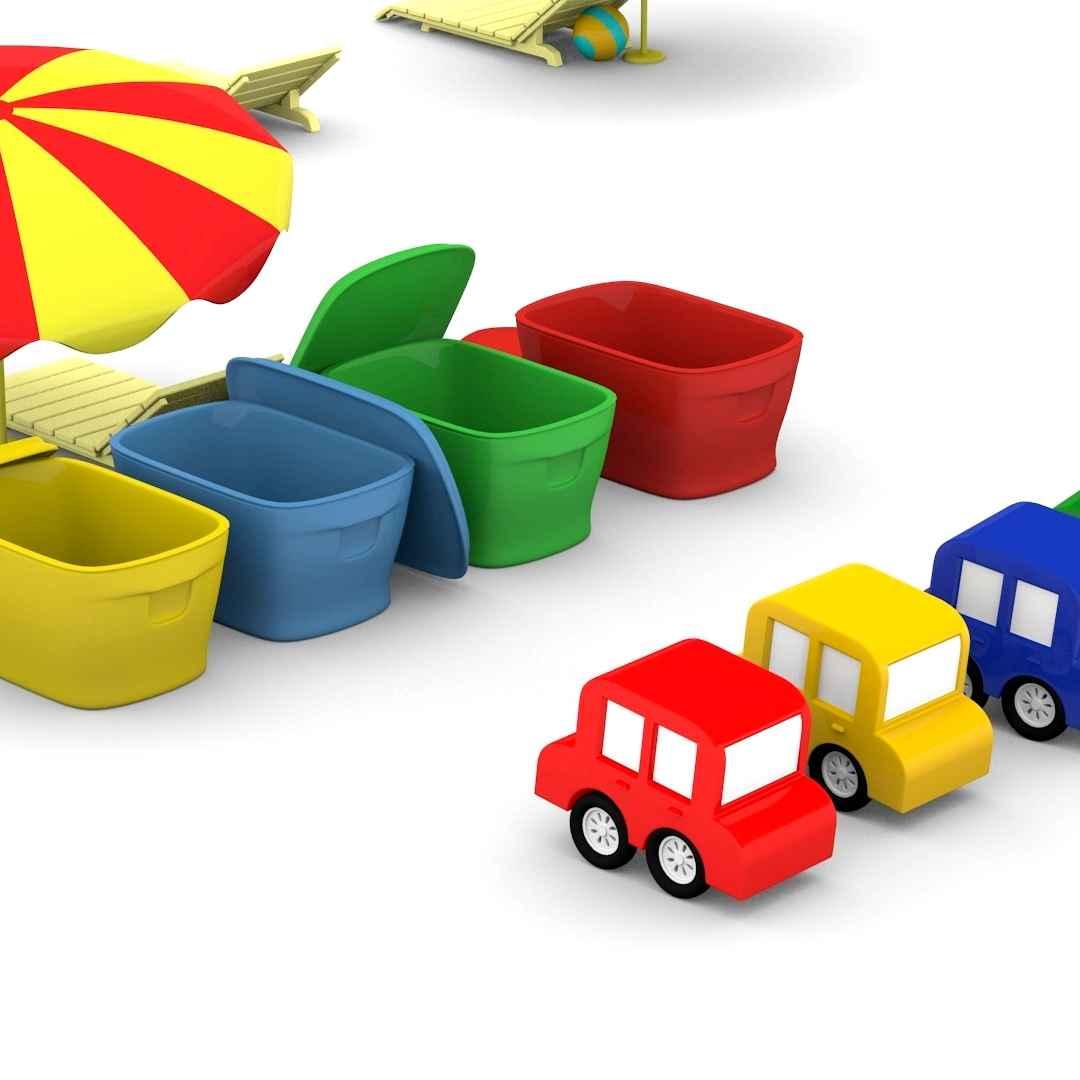 Cartoni animati per bambini le macchinine colorate vanno