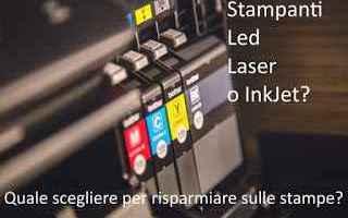 stampante  laser  inkjet  led  risparmio