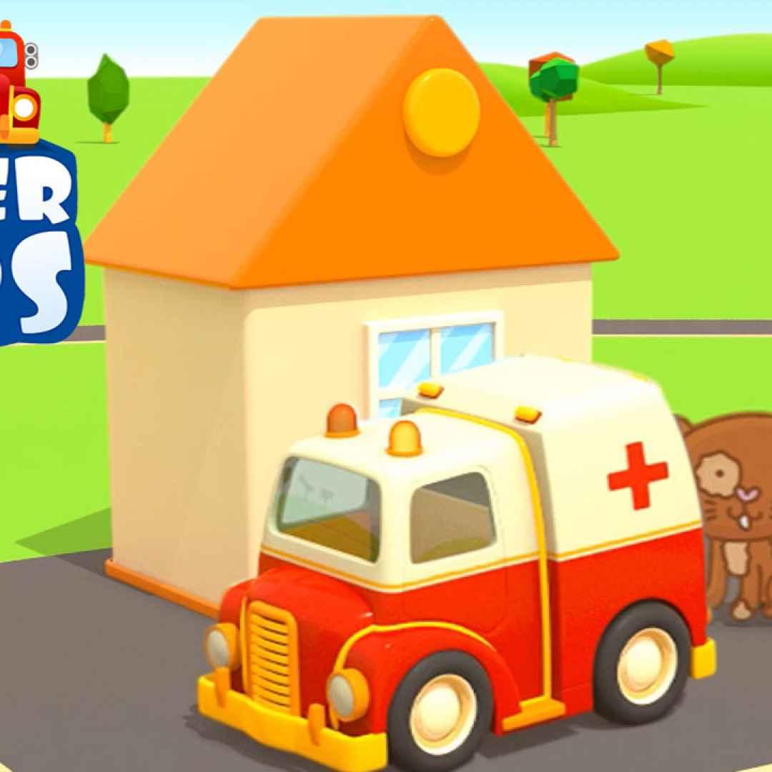 Video divertenti nuovo helper cars l ambulanza e il