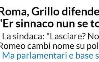 Politica: m5s roma  raggi  repubblica