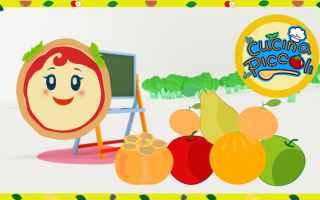 cartoni animati  bambini  frutta
