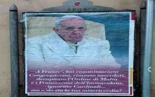 roma  papa  chiesa  manifesti