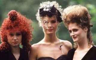 moda  anni 80  acconciature  stile