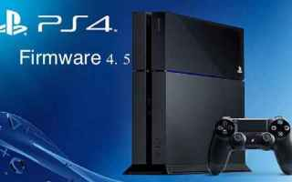 Console games: ps4 sony playstation firmware novità