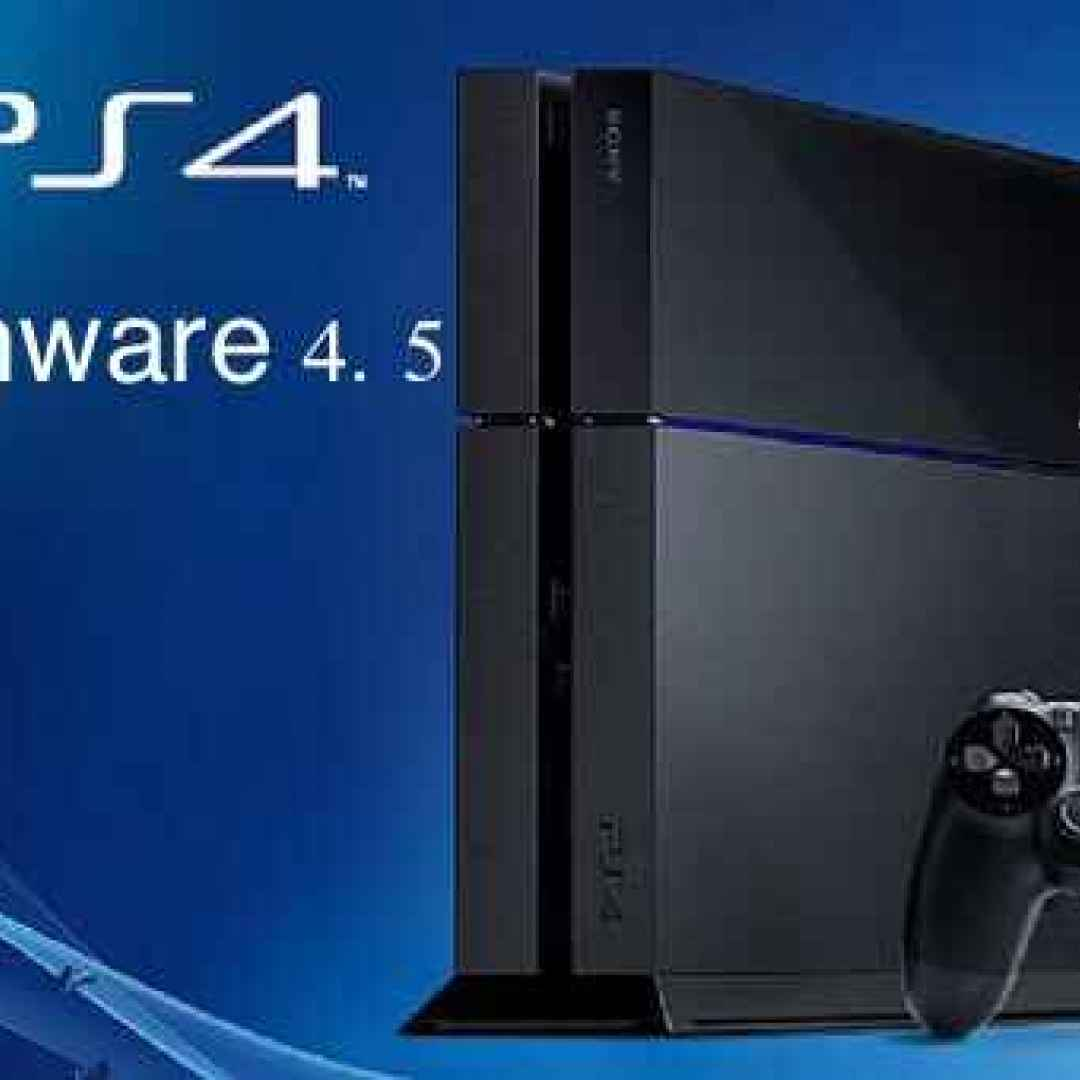 ps4 sony playstation firmware novità