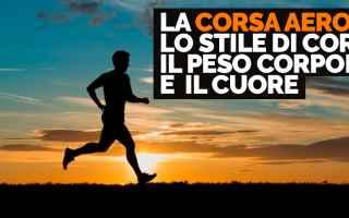Atletica: corsa running corsa aerobica allenamento