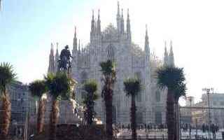 Milano: milano  palme in piazza duomo