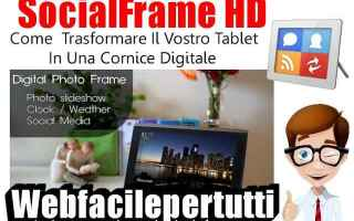 Tablet: socialframe hd app tablet cornice
