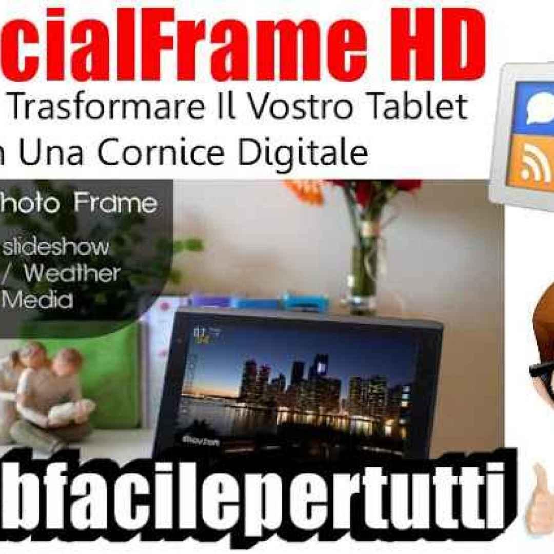 socialframe hd app tablet cornice