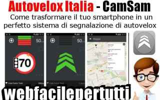 Automobili: autovelox italia  app  autovelox
