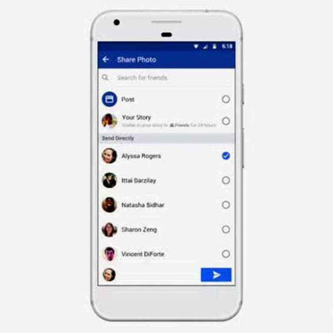 facebook  nuova app camera