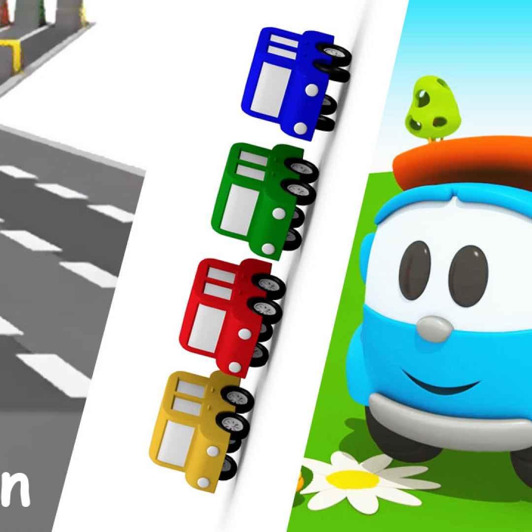 Cartoni Animati Per Bambini Le Gare Di Corsa Di Leo Il Camion