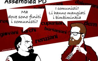 Satira: satira  scissione  pd  sparatrap
