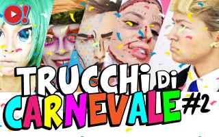 Video divertenti: carnevale  make up  trucco  maschera