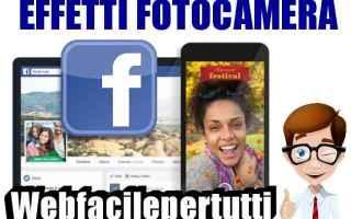 facebook  effetti fotocamera