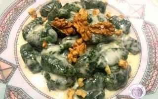 Ricette: gnocchi  taleggio  noci  spinaci
