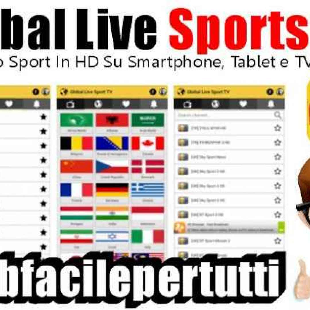 Global Live Sports TV) App Android Per Vedere Tutto Lo Sport