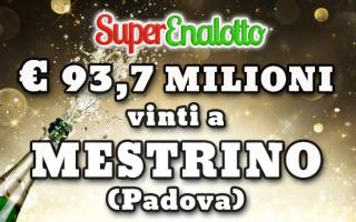 Il jackpot del SuperEnalotto da 93,7 milioni di euro, messo in palio con lestrazione di sabato 25 fe