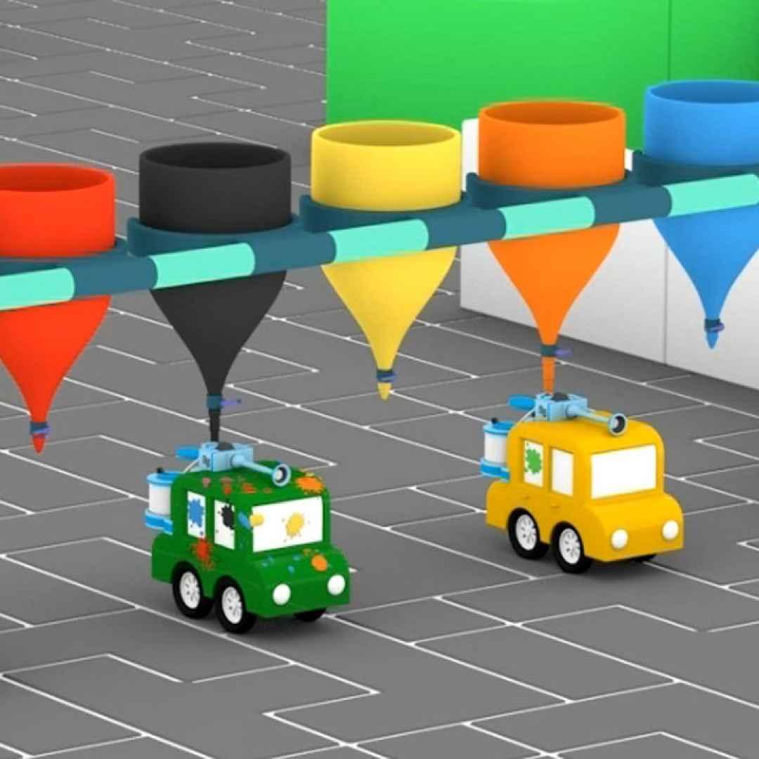 Cartoni animati per bambini le macchinine colorate