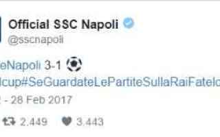 juventus napoli calcio twitter  rai