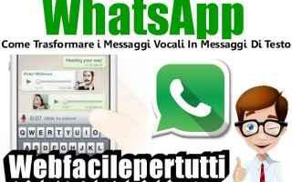 App: whatsapp  trasformare  messaggi