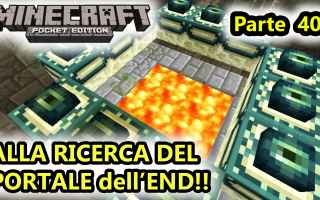 Mobile games: minecraft  minecraftpe  end  portale