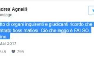 Serie A: juventus agnelli twitter calcio serie a