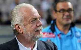Calcio: sarri  champions league  de laurentiis