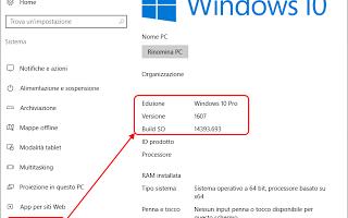 Microsoft: update  versione  windows-10  build
